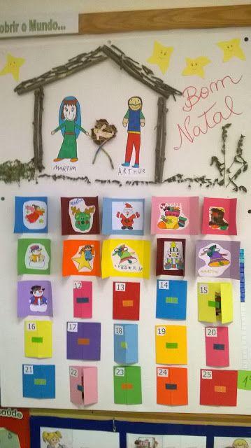 calendário do advento 2015 no jardim de infância de Vila de Frades