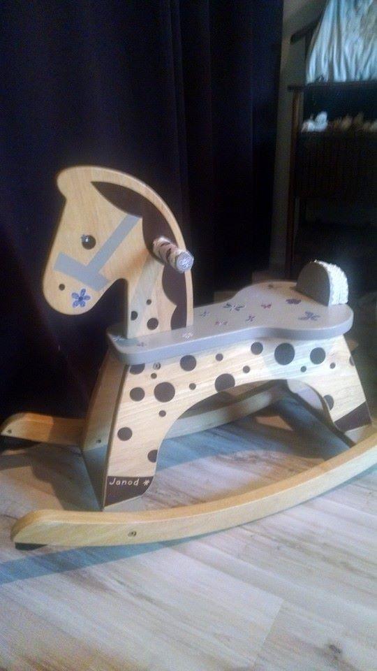 Cheval à bascule indémodable jouet en bois qui charmera petits et grands.... : Chambre d'enfant, de bébé par ptiboo-d-a