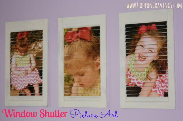 DIY Window Shutter Picture Art
