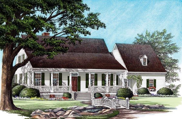 Cottage country farmhouse traditional house plan 86191 Farm cottage house plans