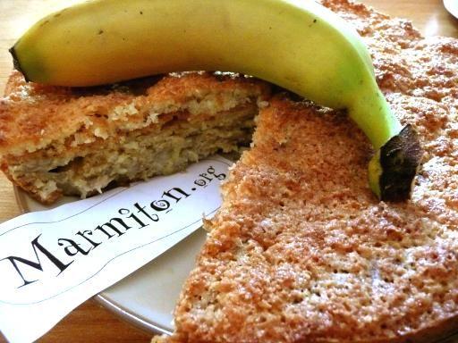 Recette de Gâteau coco bananes