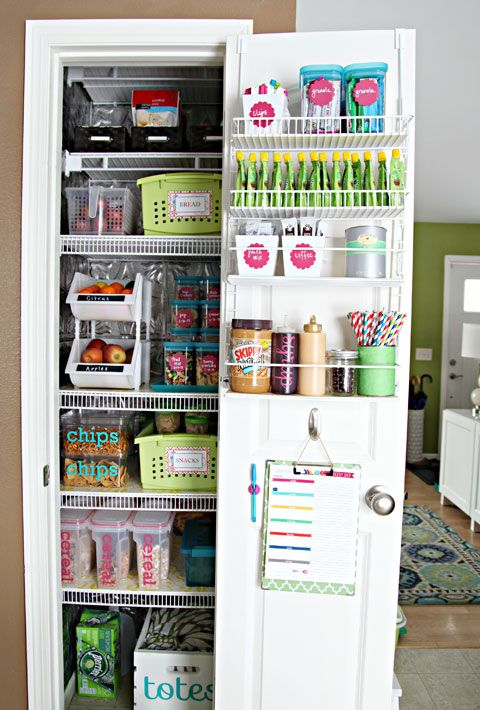 10 Realistically Organized Pantries Pantry Organization Pinterest Kitchen And