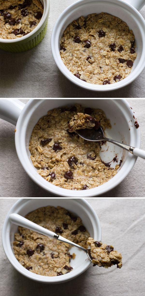 single-serving deep dish chocolate chip cookie >> edible perspective #vegan #glutenfree
