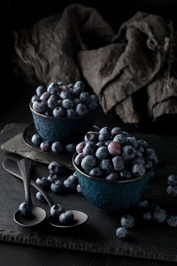 Still Life, Blueberries, Food Photography, Photo Print, Large Wall Art on Etsy, $15.00
