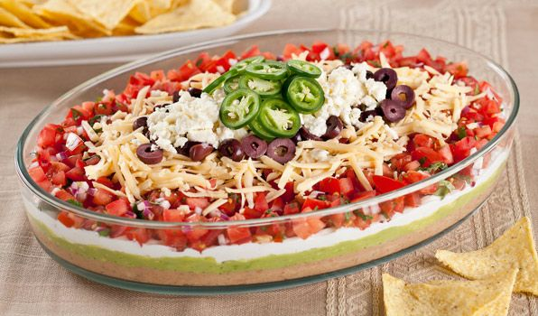 Layered Mexican Dip - In the Kitchen with Stefano Faita