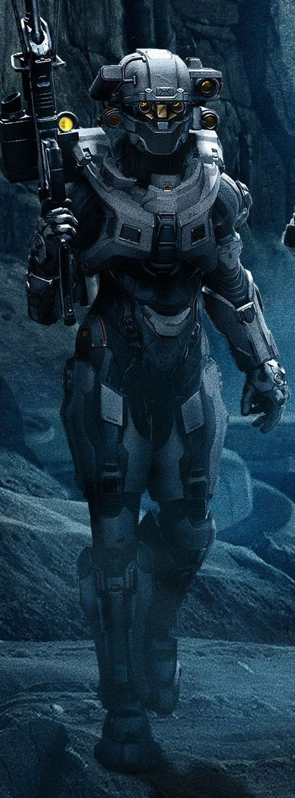 Halo 5 Blue Team Linda. Her helmet has to be my favorite.