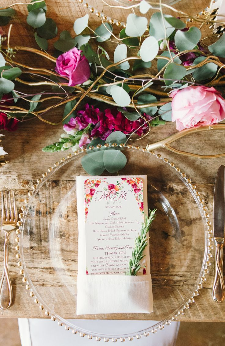 Place Setting | Big Sky Barn | Montgomery, Tx | Sarah McKenzie Photography |