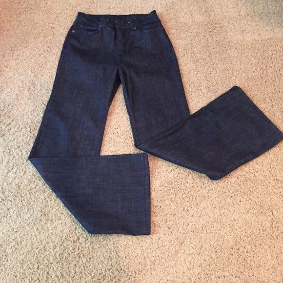 🎀SALE!🎀 Lips NYC Jeans Franciose jeans Lips Jeans NYC Franciose high waist flare denim. Altered to inseam 30.5 inches, outseam 41.5 inches. Size 28.  Boutique purchase. Lips NYC Jeans Flare & Wide Leg