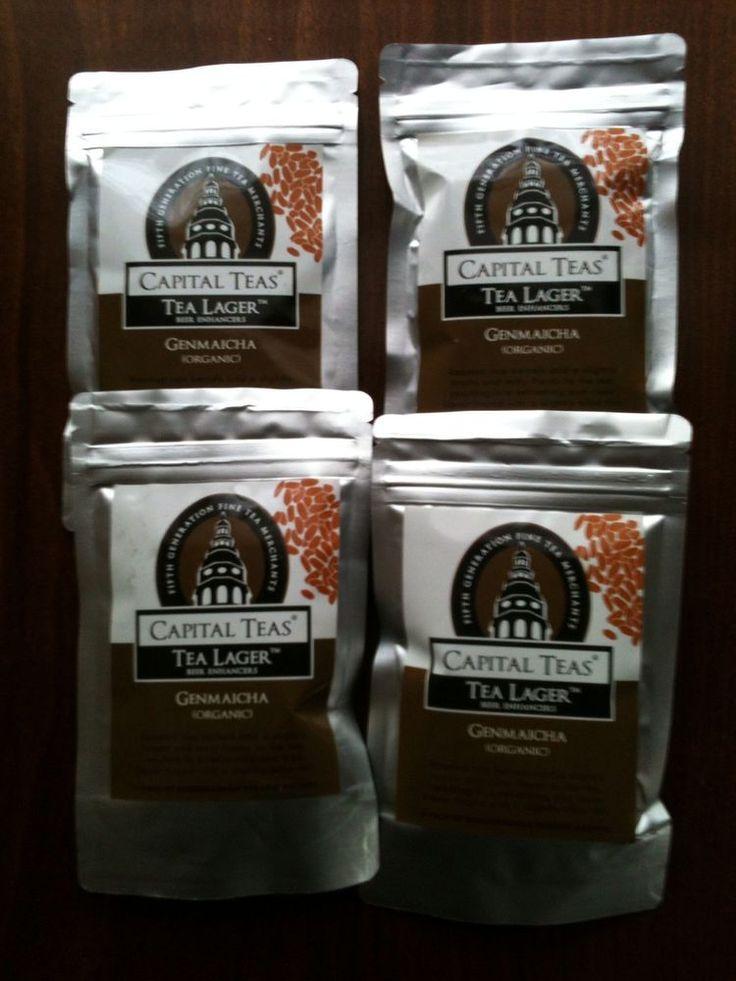 Organic Genmaicha Tea Lager Capital Teas Beer Enhancer 24 teabags 4 packs Sealed #CapitalTeas