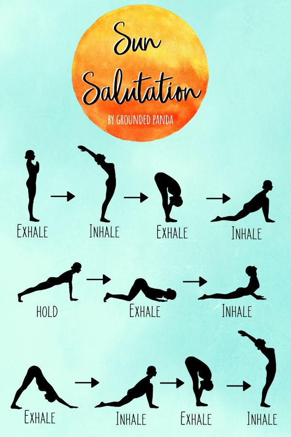 How to Do the 12 Poses of Sun Salutation for Beginners – Grounded Panda  Yoga for Beginners  Healthy Living