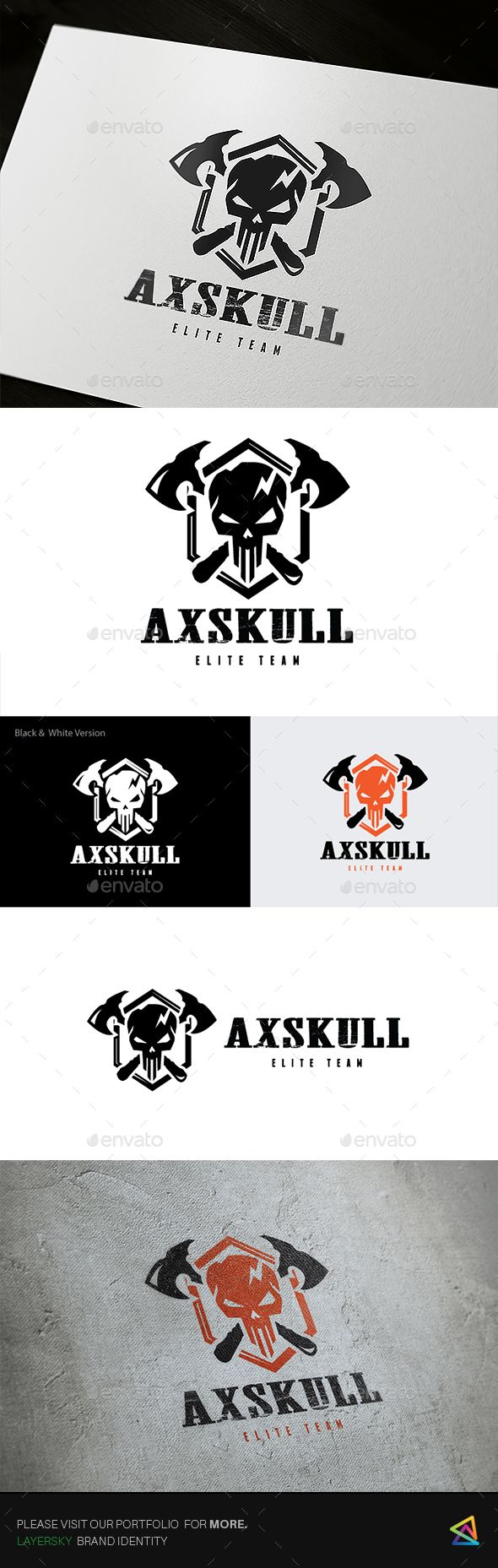 Ax Skull Logo — Transparent PNG #gang #fun • Available here → https://graphicriver.net/item/ax-skull-logo/17512930?ref=pxcr