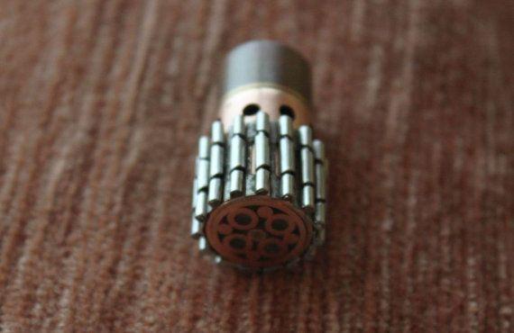 Steampunk usb flash drive 32 GB brass copper pendrive unique gadget handmade accessory OOAK gift for men him, computer memory