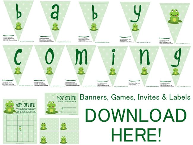 Frog Baby Shower Decorations Games Invitations Frog Shower