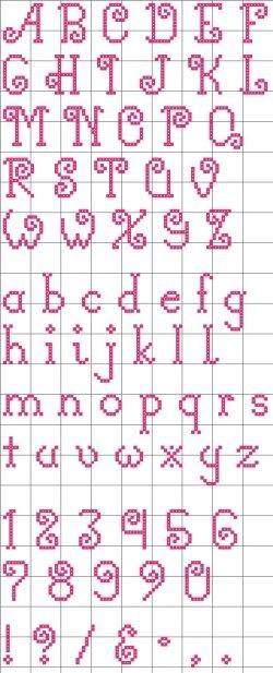 "Free ""Curly-Q"" Alphabet pattern"