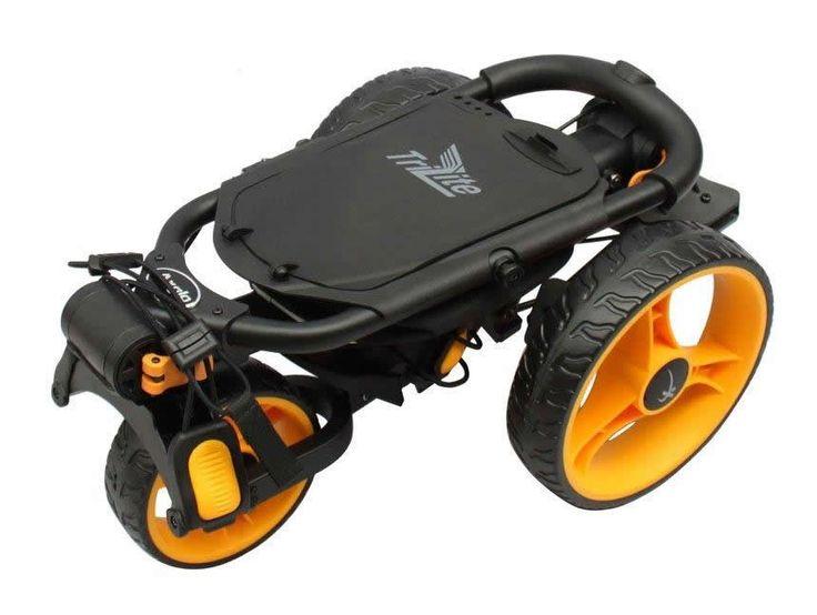 AXGLO - Chariot de golf TRI-LITE noir/jaune - Achat/Vente Chariot de golf TRI-LITE - Golf Plus