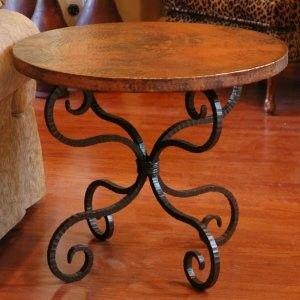 Unique Alexander End Table with Copper Top Inch Shop home Kaboodle