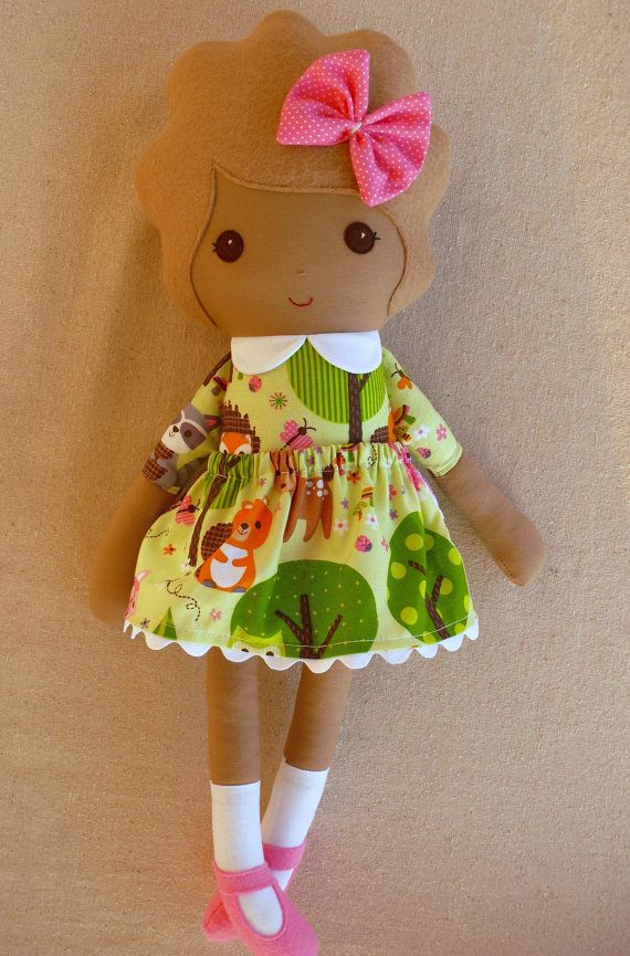 Reserved for Laura Fabric Doll Rag Doll Girl in by rovingovine