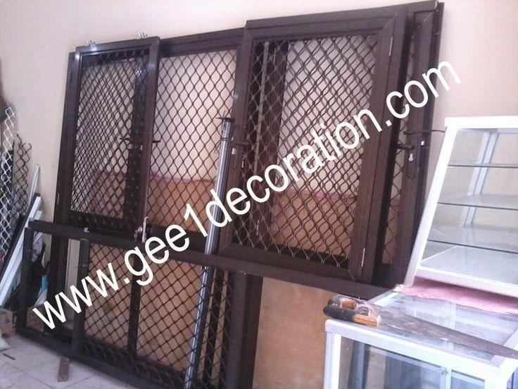 aluminium, kusen, kaca, partisi,  pintu, jendela, lipat, geser, swing, jungkit, pivot, sliding, : pintu dan jendela teralis expanda