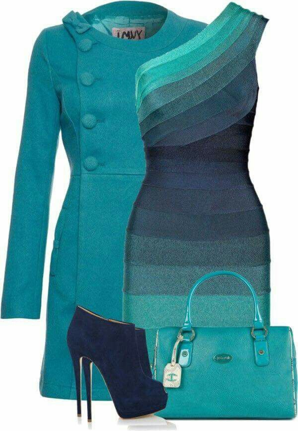 Teal | Blue-green | outfit