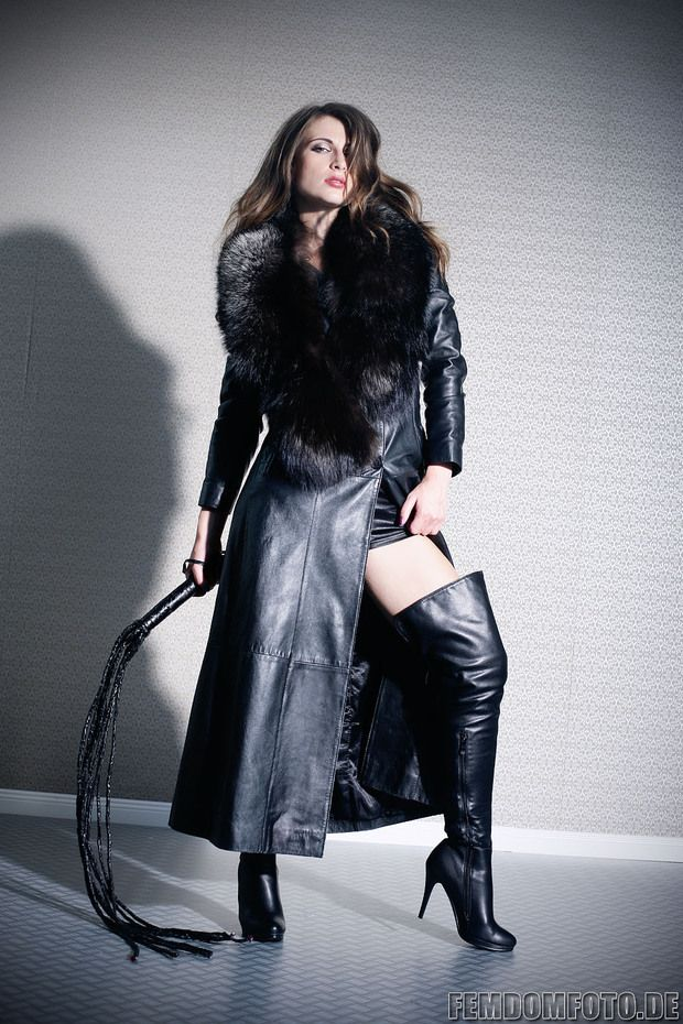 leather coat and boots