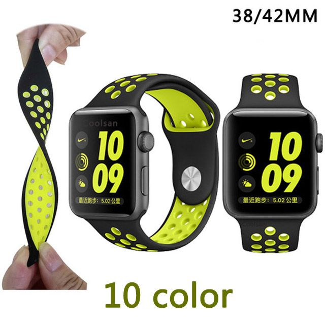 new 38MM 42mm watchband original with Light Flexible Breathable silicone watchs strap band for apple watch iwatch watch strap