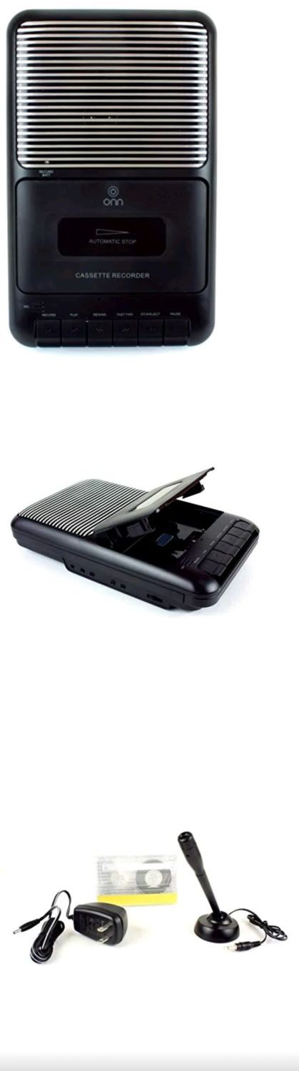 Personal Cassette Players: Onn Portable Cassette Recorder Showbox With External Microphone And Cassette Tape BUY IT NOW ONLY: $32.55
