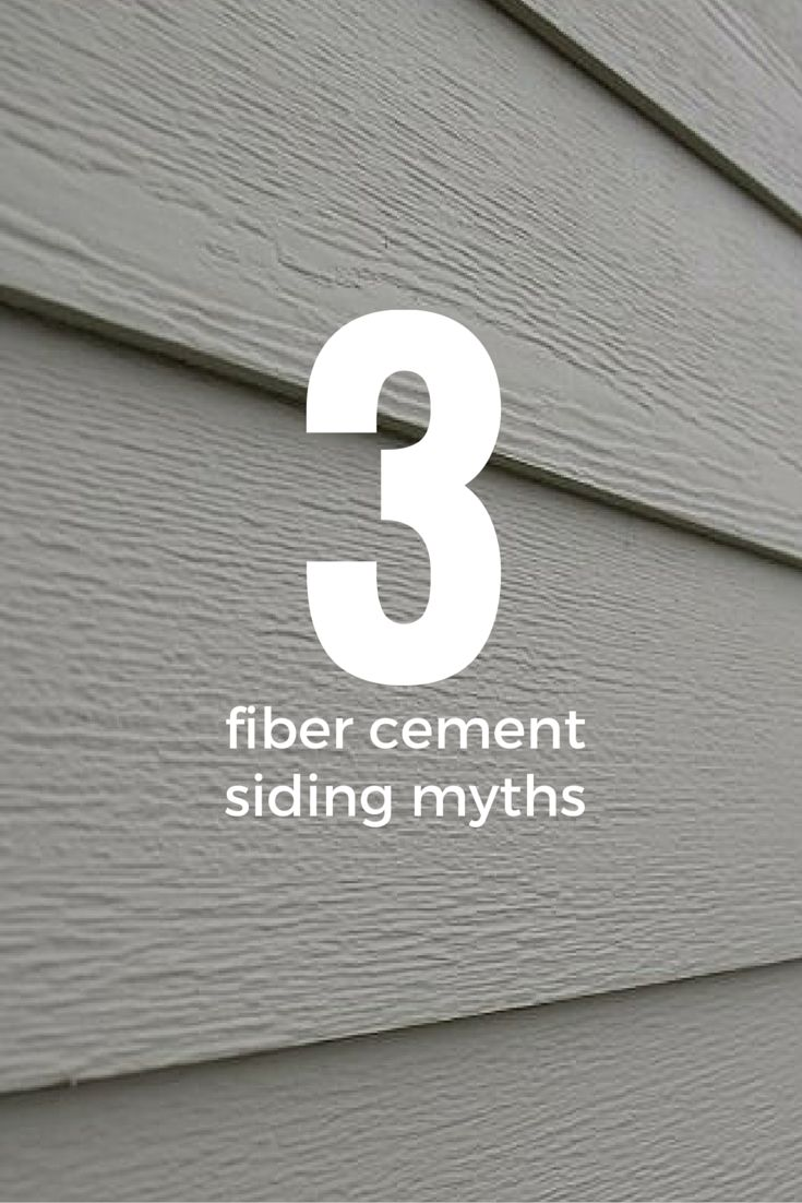 Don't believe everything you hear about fiber cement siding...
