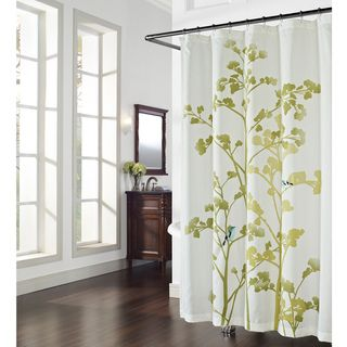 @Overstock.com   Wildwood Print And Embroidered Birds Shower Curtain   This  Lovely Shower