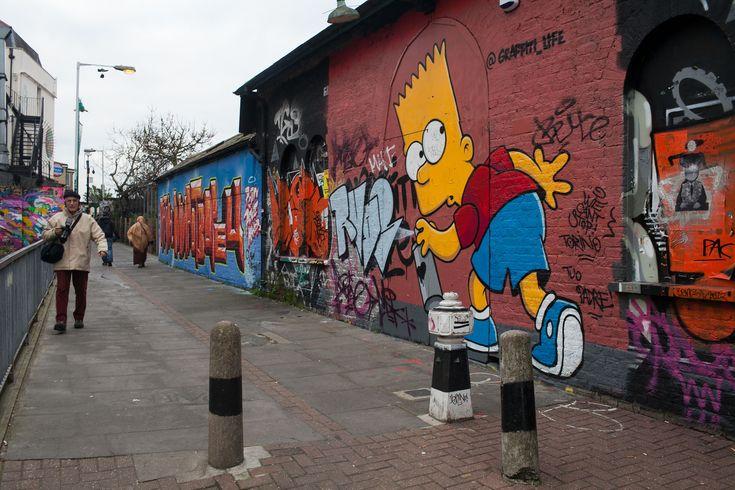 Street Art in Brick Lane, London, England