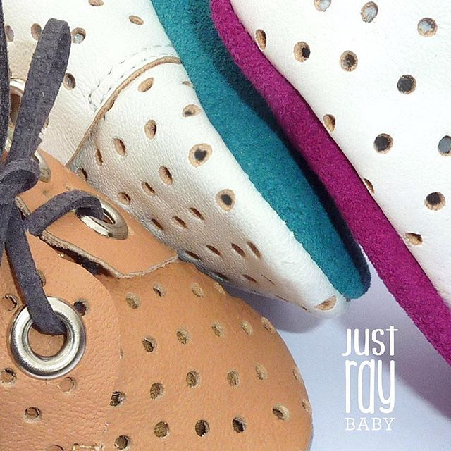 SNEAK PEEK... Super soft perforated leather... Contrast suede soles.. These little gems will be available on the website next week. www.justray.com.au  #justraybaby #leather #laceups #softsoles #perforatedleather #colourpop #shopkidsfashion #love #shopsmall #shoplocal #caramel #picoftheday #boy #girl #newborn #new #baby #igers #ig_kids #igbabies #instagood #instacool #instababy #moccs #moccasins #melbourne #shopkidsfashion