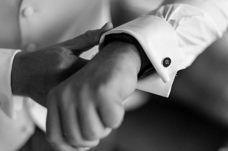 Bride to Groom's wedding day present - Mulberry cufflinks