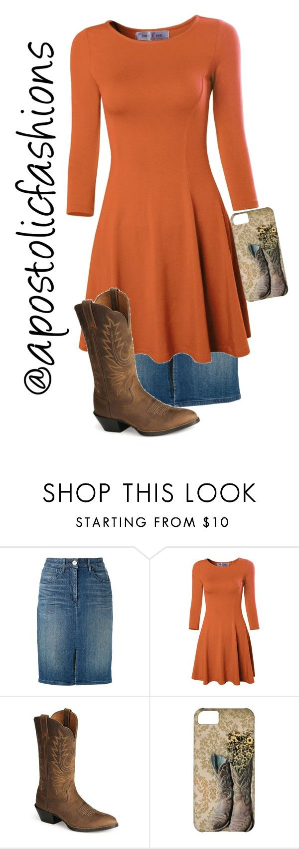 """""""Apostolic Fashions #1407"""" by apostolicfashions on Polyvore featuring 3x1 and Ariat"""