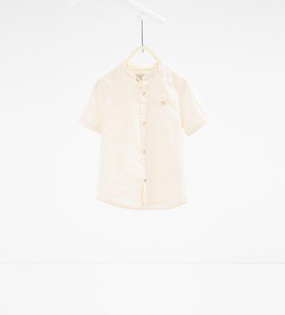 Chemise à col mao - Disponible en d'autres coloris