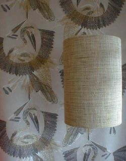 Grasscloth Lampshade
