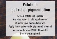 Potato to get rid of pigmentation