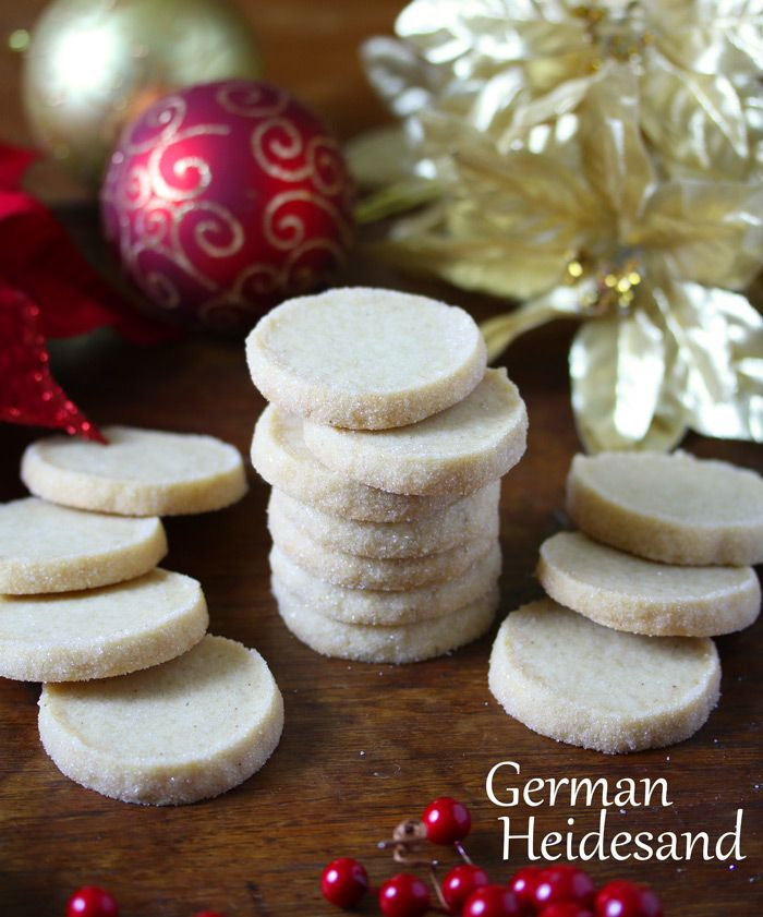 Heidesand, traditional German browned butter shortbread cookies.  daringgourmet.com