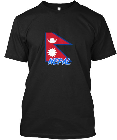 Nepal Flag Artistic Blue Design Black T-Shirt Front - This is the perfect gift for someone who loves Nepal. Thank you for visiting my page (Related terms: I Heart Nepal,Nepal,Nepalese,Nepal Travel,I Love My Country,Nepal Flag, Nepal Map,Nepal Language, Ne #Nepal, #Nepalshirts...)