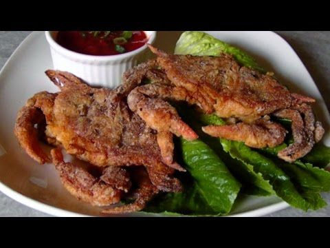 how to cook soft shell crab youtube