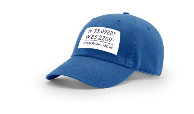 Chickamauga GPS Coordinates Cotton Hat