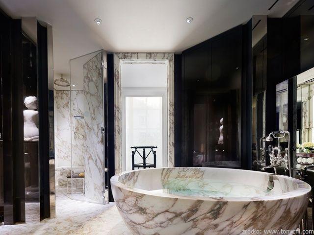 Kamień w luksusowych wnętrzach - wanna z kamienia