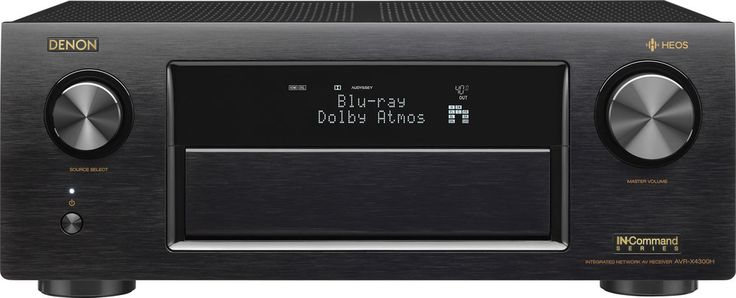 Denon AVR-X4300H IN-Command 9.2-channel home theater receiver with Wi-Fi®, Dolby Atmos®, DTS:X, and HEOS at Crutchfield.com
