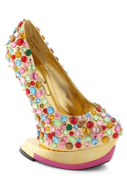 There's No I in Gleam Heel coolest heels ever, #ModCloth