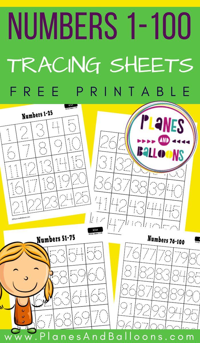 Free Printable Number Tracing Worksheets 1 100 Kindergarten Worksheets Free Printables Free Printable Numbers Free Kindergarten Worksheets Simple double digit addition worksheets
