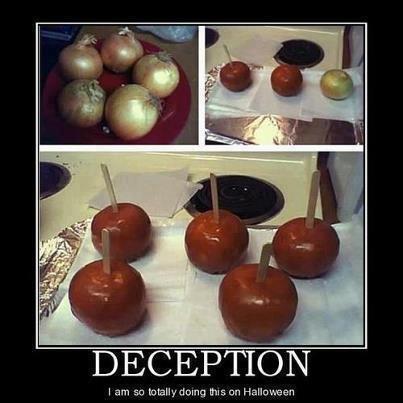 lol.. caramel onions practical joke!!