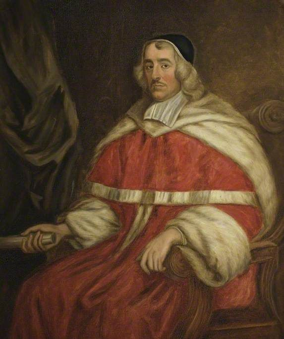 Sir Wadham Wyndham (1610–1668), Judge (copy of original portrait at Orchard Wyndham).  John Michael Wright (1617–1694) (after).  Somerset Museums Service.