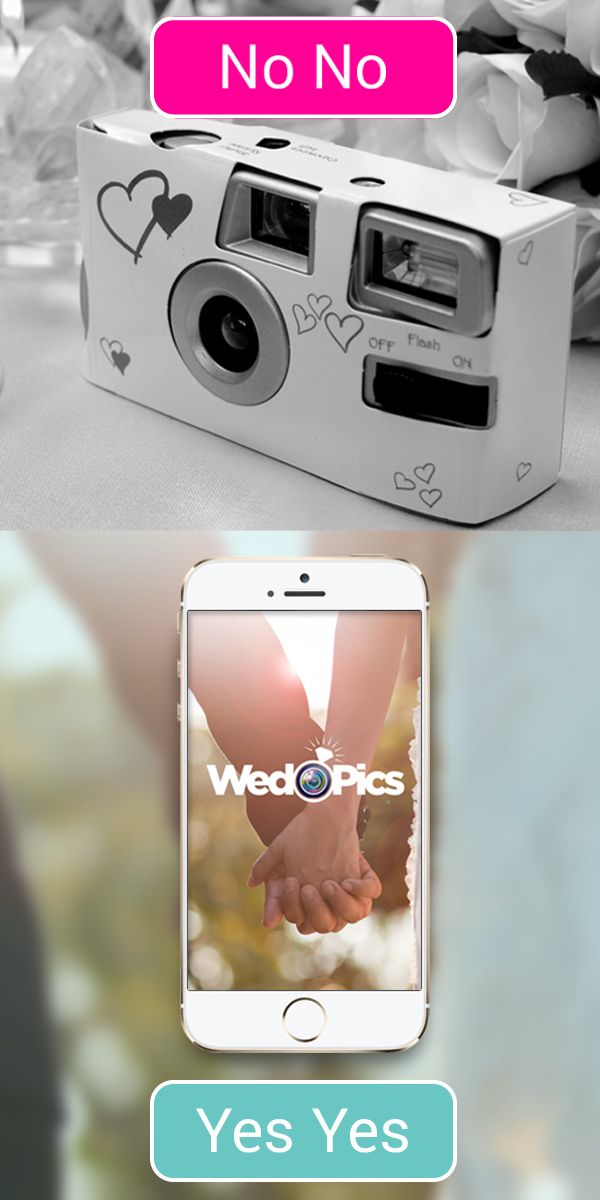 Getting Married? Ditch the disposable cameras & try WedPics - The #1  Photo & Video App made just for YOUR wedding!  It's FREE.  Relive the entire wedding experience through the eyes of your guests from Engagement Party to Bridal Shower, Rehearsal Dinner to Reception! Available for iPhone, Android & all digital cameras!