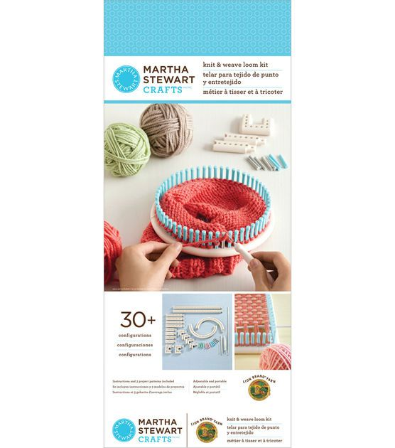 Martha stewart crafts knit and weave loom crafts loom for Martha stewart crafts spray paint kit