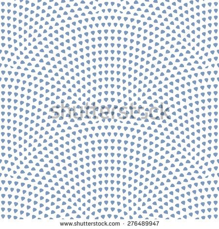 Vector abstract seamless pattern with geometrical  layout. Dark small blue drop-shaped elements on white background