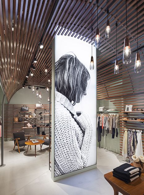 large lightbox in retail environment - Retail Design Ideas