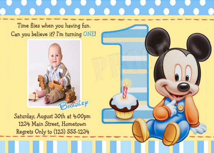 161 best Birthday Party Another year older images – Personalized Mickey Mouse Birthday Invitations